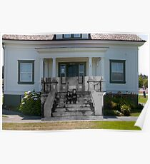 Looking into the Past: 1920s-2010: Lighthouse Assistant Keeper's Quarters Poster