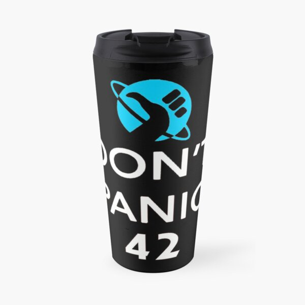 Don't Panic! Hitchhiker's Guide to the Galaxy Travel Mug