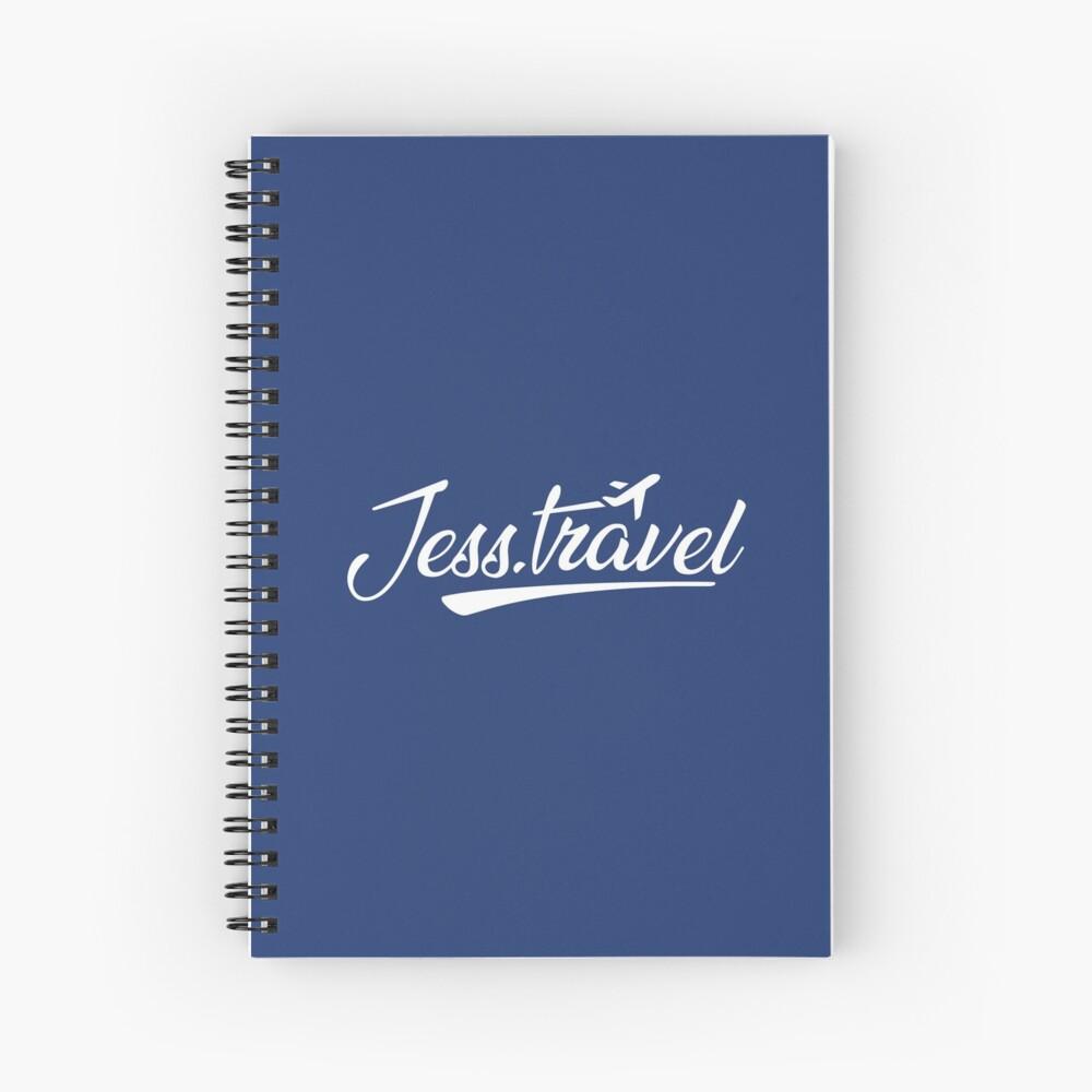 Jess.Travel White Logo Spiral Notebook