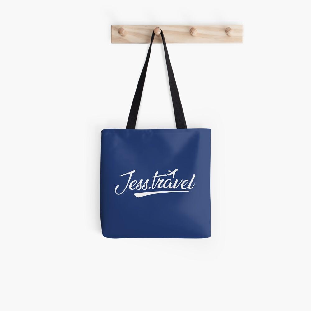 Jess.Travel White Logo Tote Bag