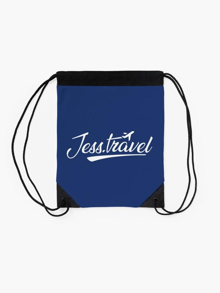 Alternate view of Jess.Travel White Logo Drawstring Bag
