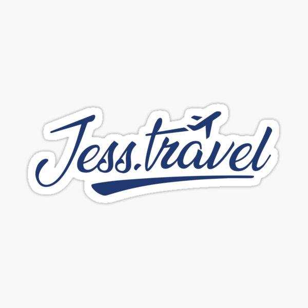 Jess.Travel White Logo Sticker