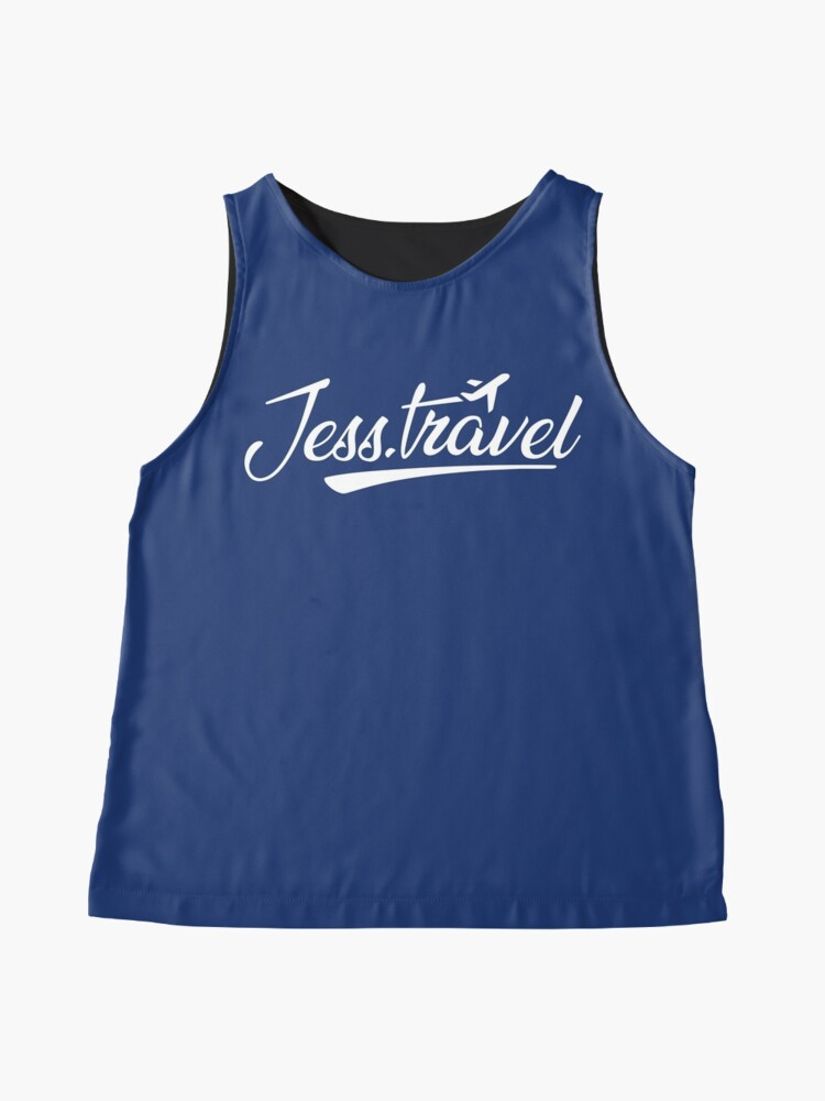 Alternate view of Jess.Travel White Logo Sleeveless Top