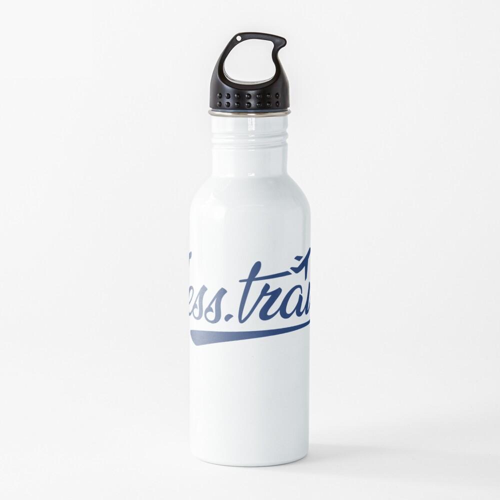 Jess.Travel White Logo Water Bottle