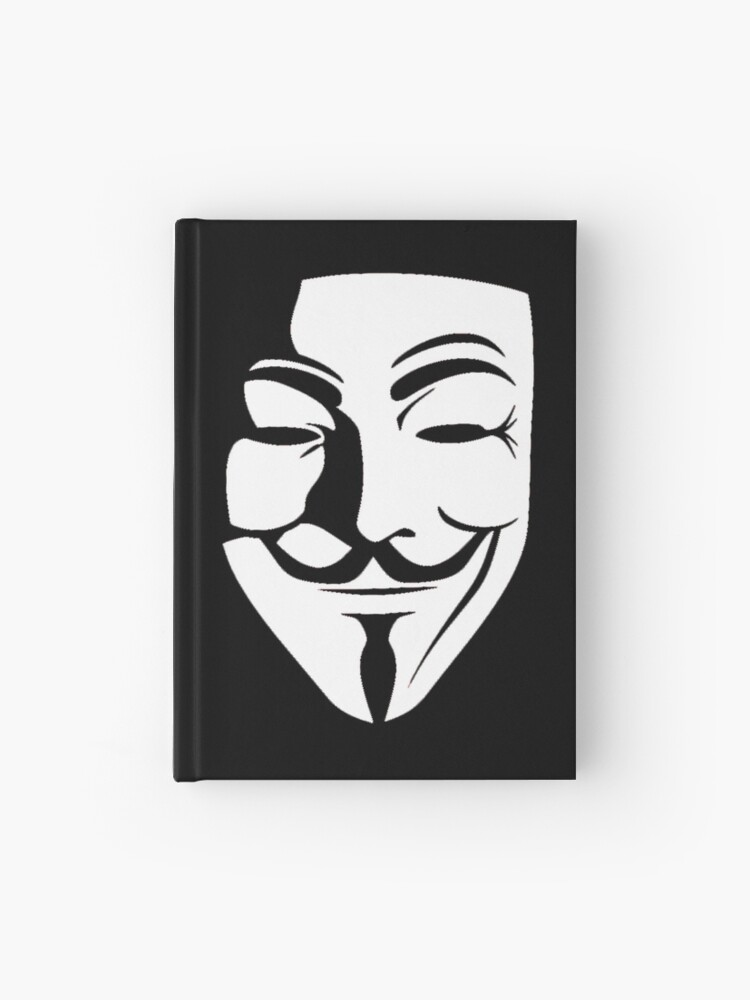 V For Vendetta Guy Fawkes Mask Hardcover Journal By Otakupapercraft Redbubble
