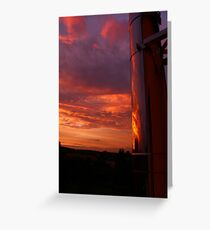 Evening Sky Reflections Greeting Card