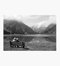 Conversation on a bench Photographic Print