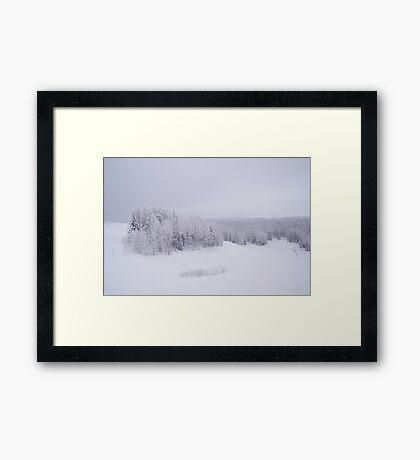 Winter in Golubino Framed Print