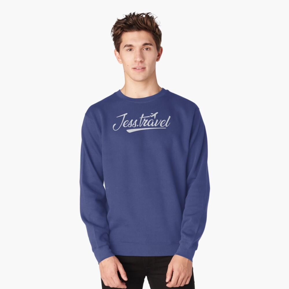 Jess.Travel White Logo Pullover Sweatshirt