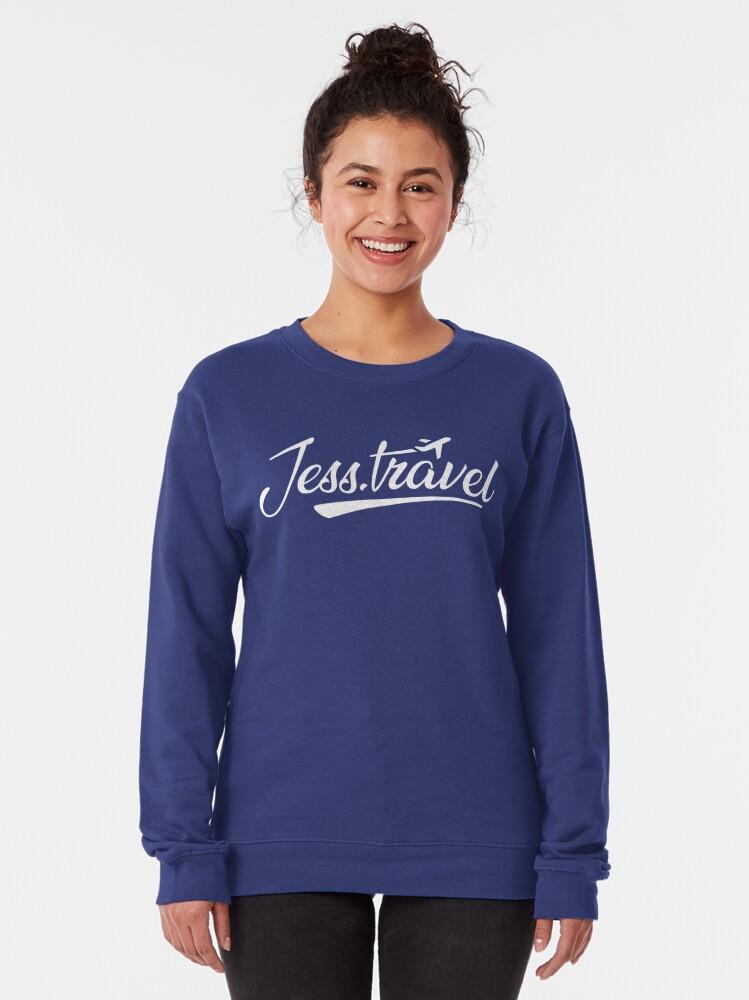 Alternate view of Jess.Travel White Logo Pullover Sweatshirt
