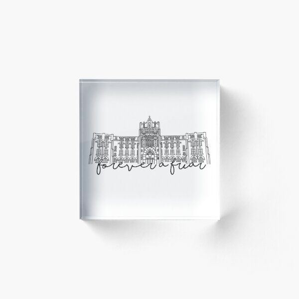 Forever a Friar Providence College Harkins Hall Acrylic Block