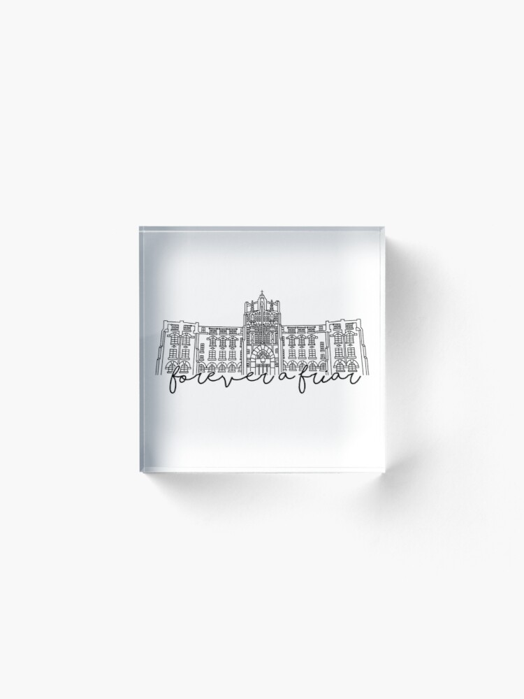 Alternate view of Forever a Friar Providence College Harkins Hall Acrylic Block