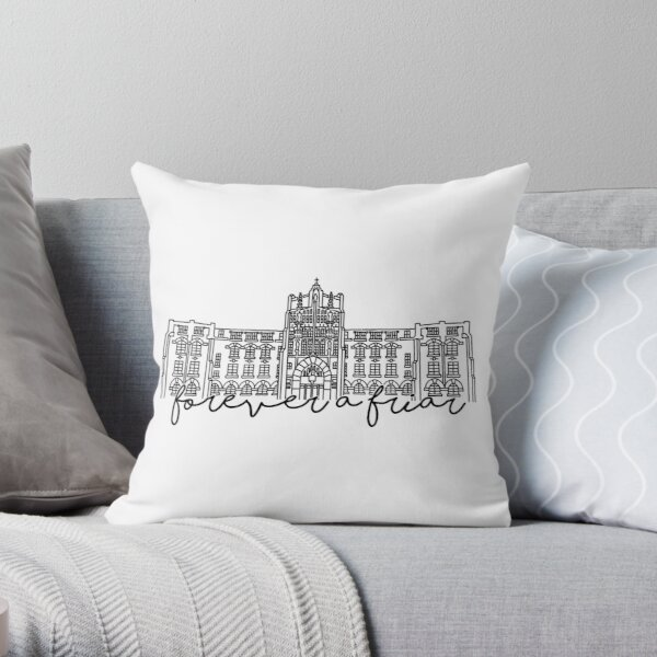 Forever a Friar Providence College Harkins Hall Throw Pillow