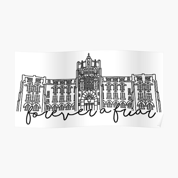 Forever a Friar Providence College Harkins Hall Poster