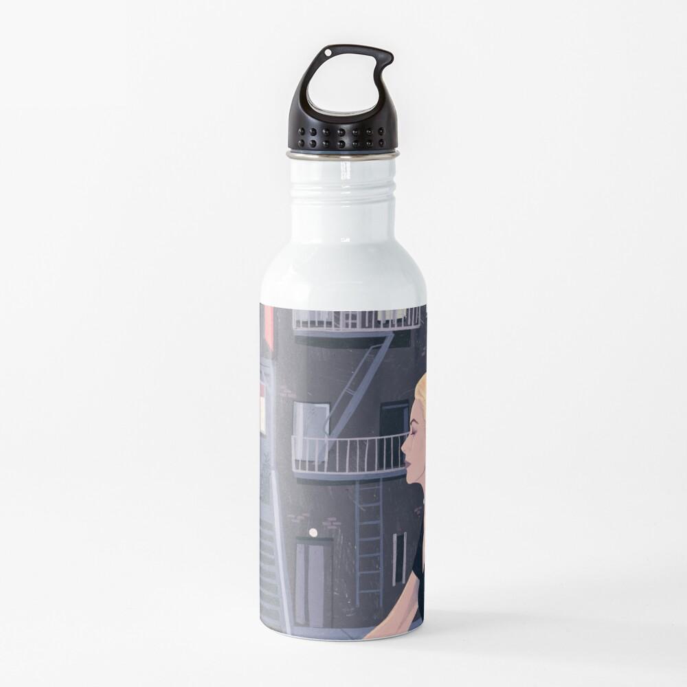 Rear Window - Pencil illustration Hitchcock fan art Water Bottle