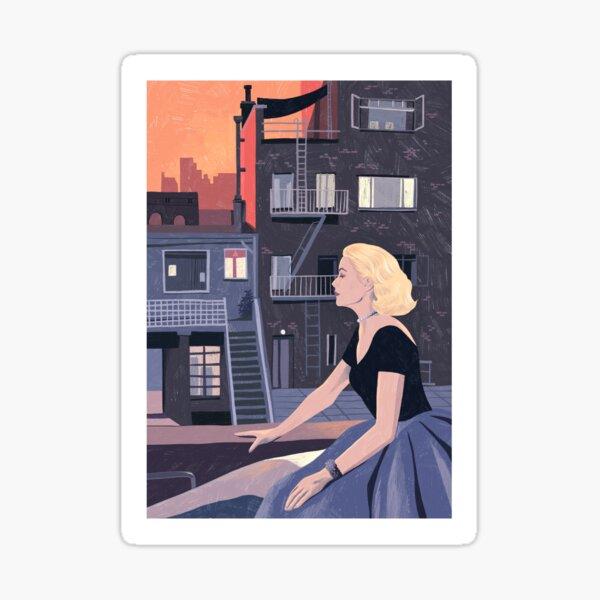 Rear Window - Pencil illustration Hitchcock fan art Sticker