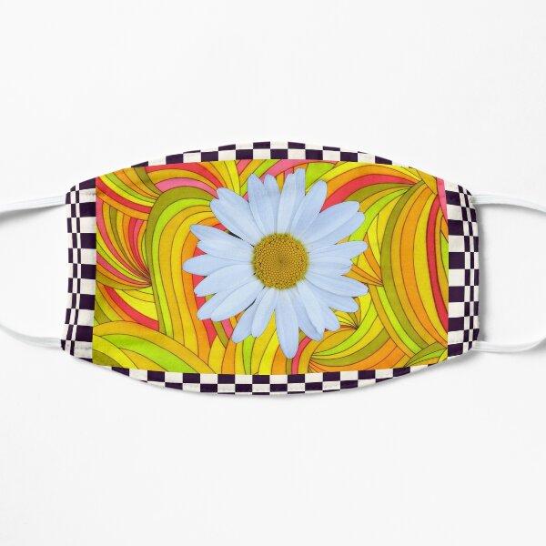 Ediemagic groovy daisy with checks Flat Mask