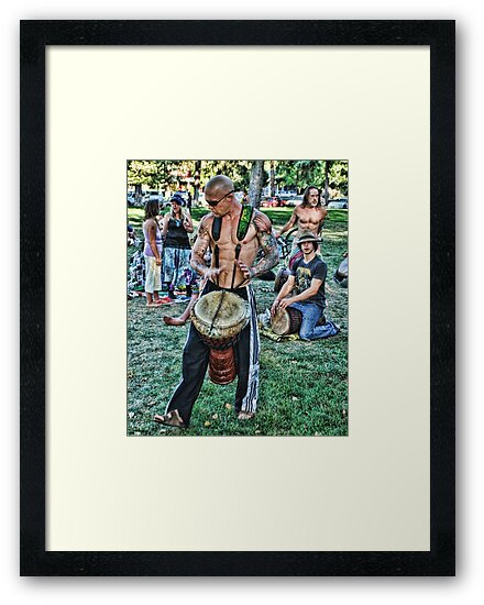 Drummers at the park  by Oscar Aguilar