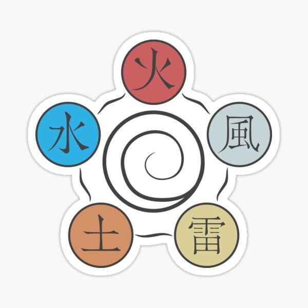 Elemental Spiral Sticker