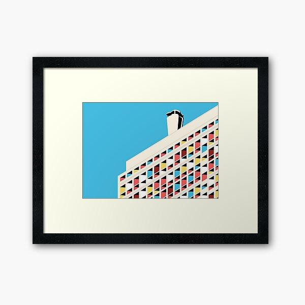 De Corbusier architecture Le Habitation Framed Art Print