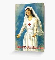 Red Cross Nurse Greeting Card