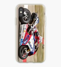 Carlos Checa at Miller Motorsports park 2012 iPhone Case