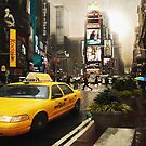 Yellow Cab by Yvon van der Wijk