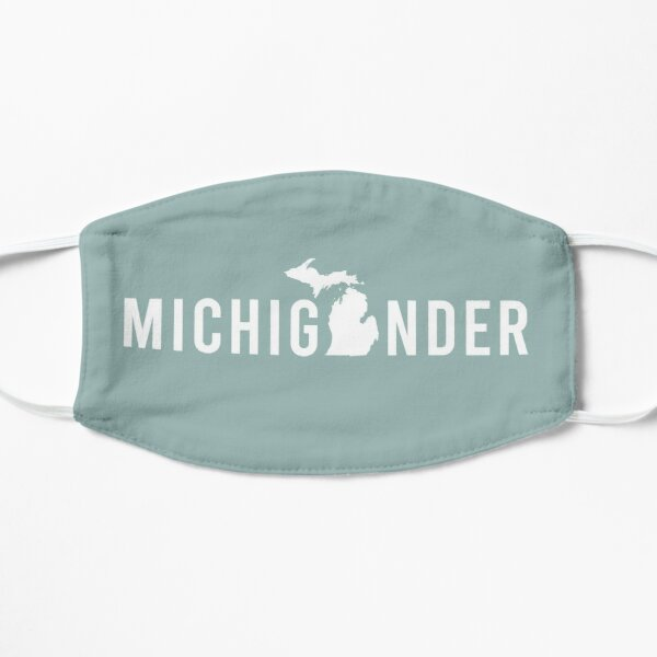 Proud Michigander, Michigan Pride from Midwest Mitten State  Flat Mask
