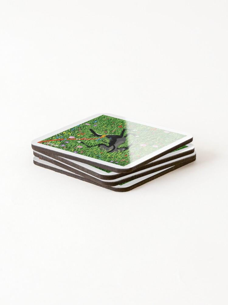 Alternate view of Roaching in the Wildflowers Coasters (Set of 4)