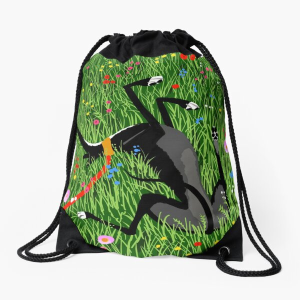 Roaching in the Wildflowers Drawstring Bag