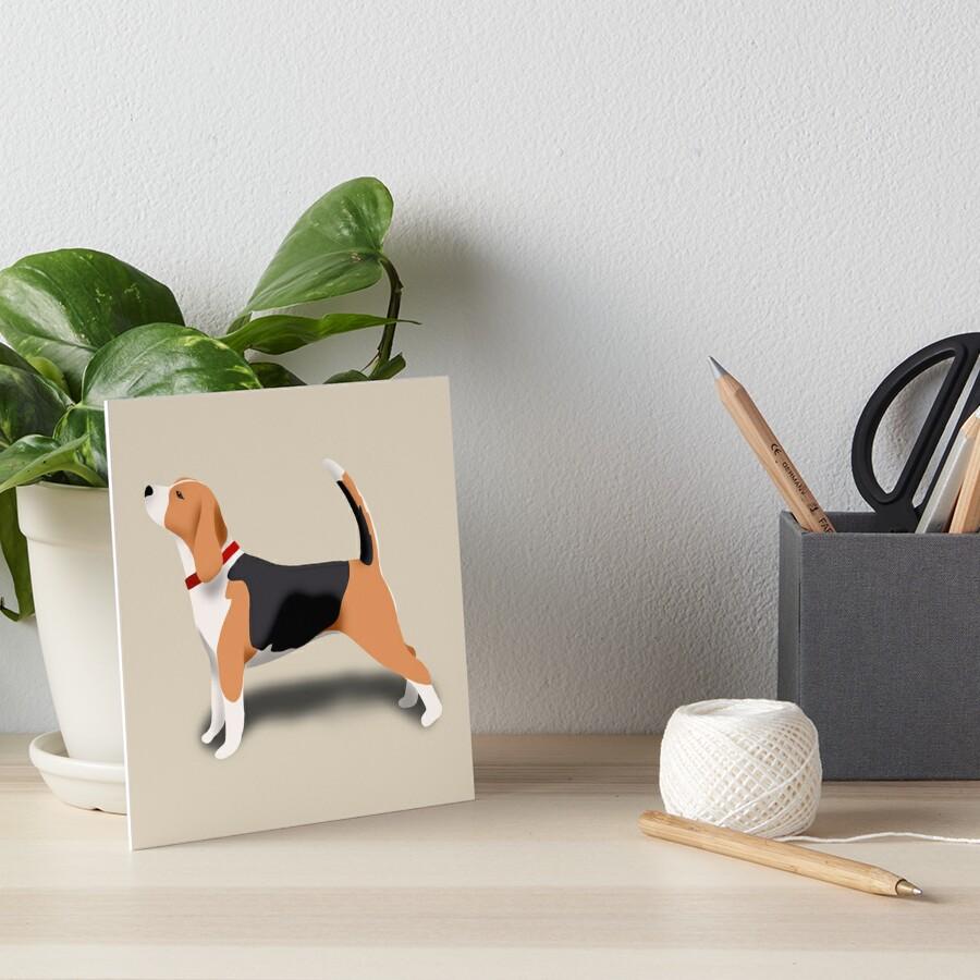 Beagle Art Board Print