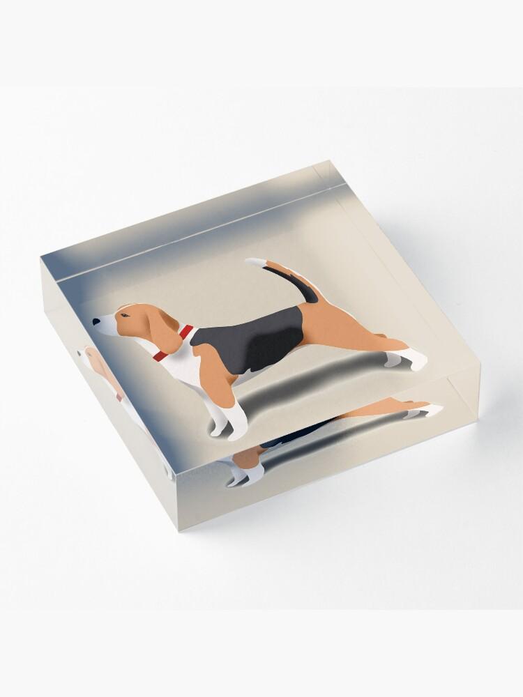 Alternate view of Beagle Acrylic Block