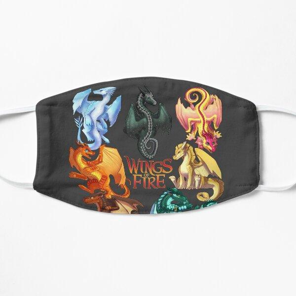 Wings of Fire - Jade Winglet Dragonets: Moonwatcher, Winter, Qibli, Peril, Turtle, Umber, Kinkajou Flat Mask