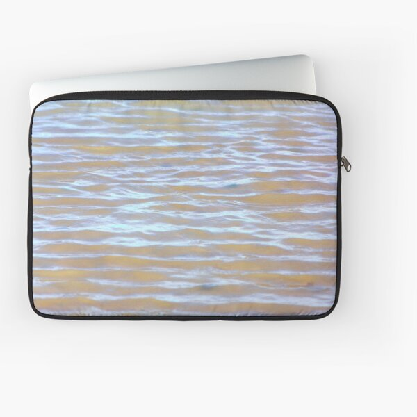 Low tides shimmer beach texture Laptop Sleeve