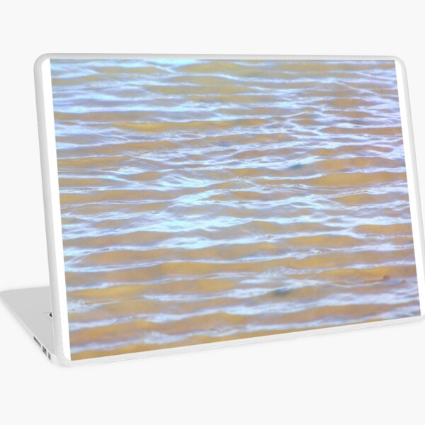 Low tides shimmer beach texture Laptop Skin