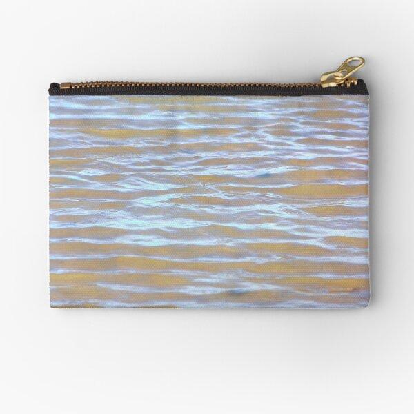 Low tides shimmer beach texture Zipper Pouch