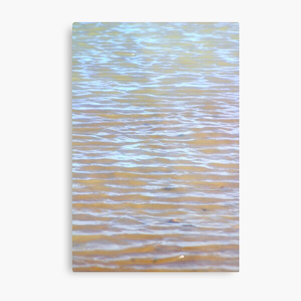 Low tides shimmer beach texture Metal Print
