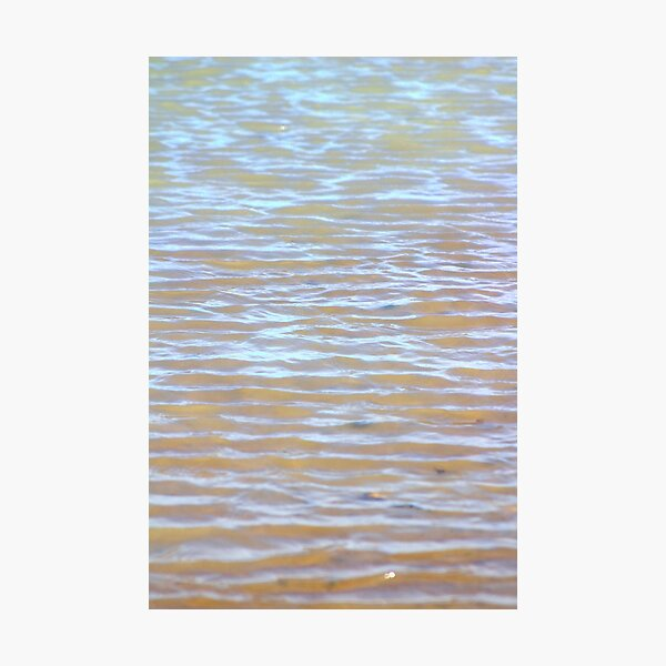 Low tides shimmer beach texture Photographic Print