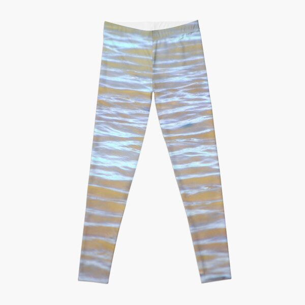 Low tides shimmer beach texture Leggings
