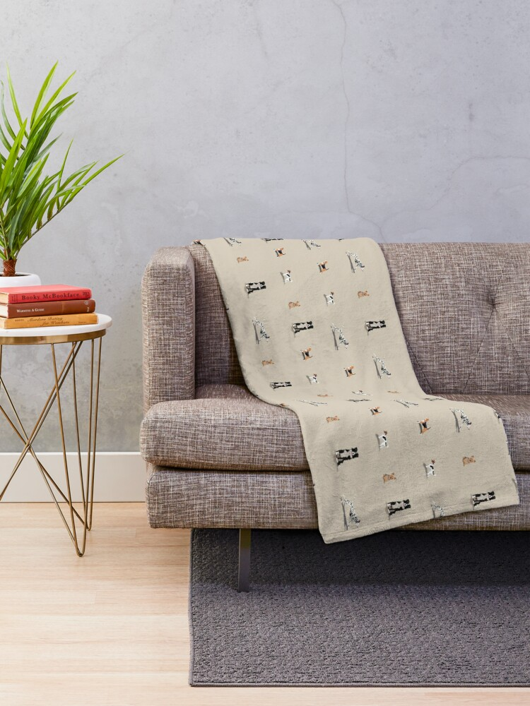 Alternate view of Dog Repeat Throw Blanket