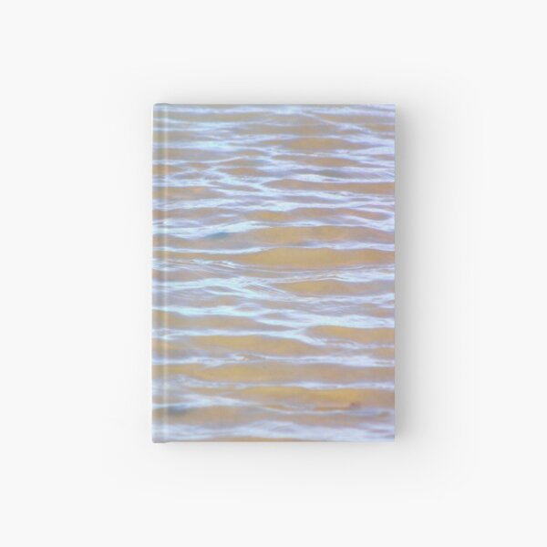 Low tides shimmer beach texture Hardcover Journal