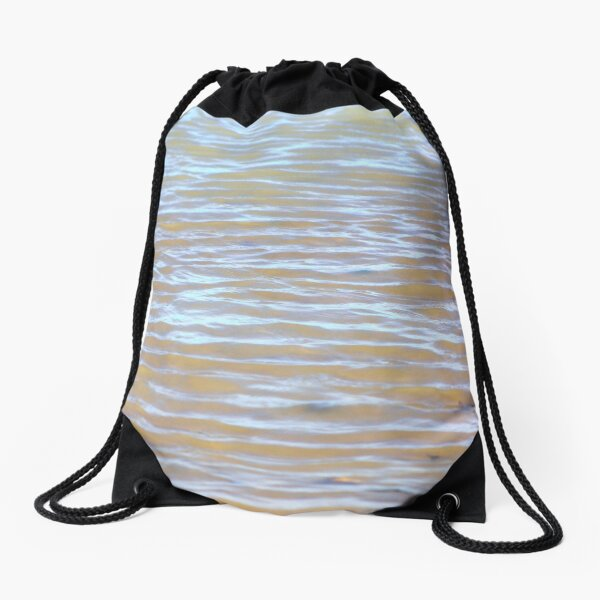 Low tides shimmer beach texture Drawstring Bag