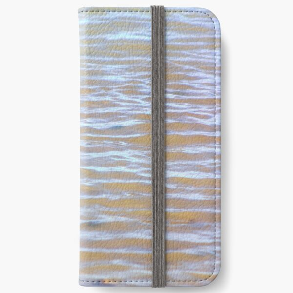 Low tides shimmer beach texture iPhone Wallet
