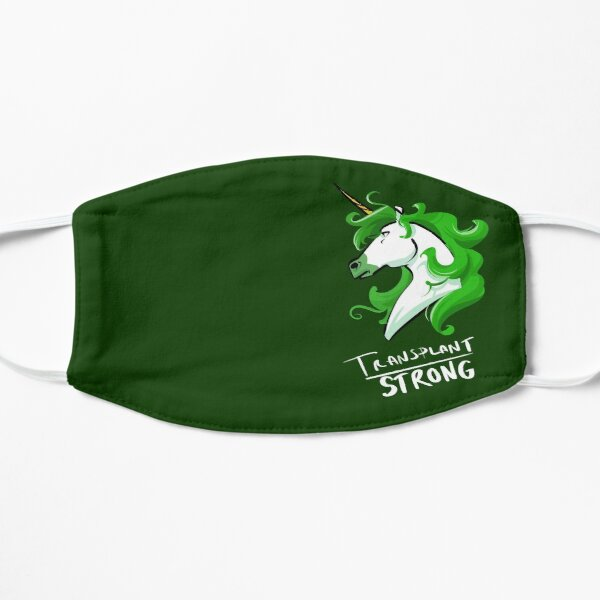 Transplant Strong Unicorn For Organ Transplant Awareness Mask