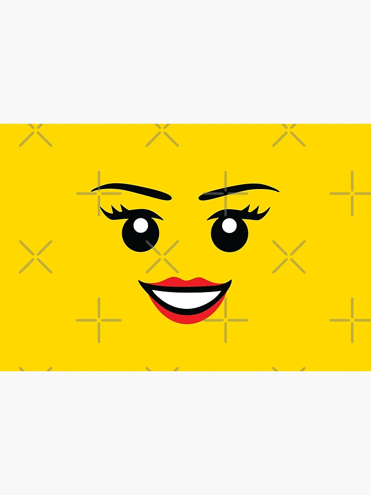Cute Female Minifigure Face Funny AFOL by JustLivinLife