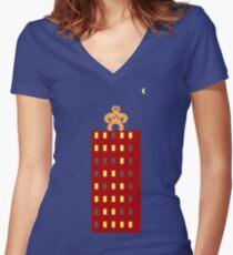 Gorillas Women's Fitted V-Neck T-Shirt