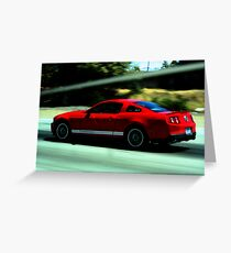 Mustang Pure Speed Greeting Card