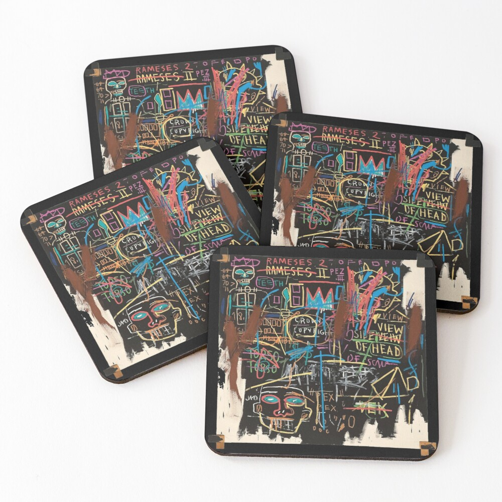Vectorised famous New York street art / pop art from the 70s. Coasters (Set of 4)