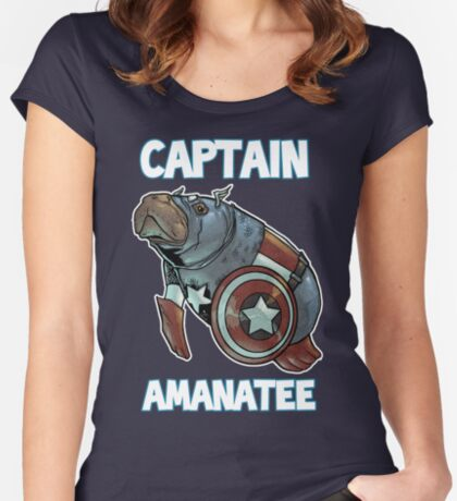 Captain Amanatee SALE! Women's Fitted Scoop T-Shirt