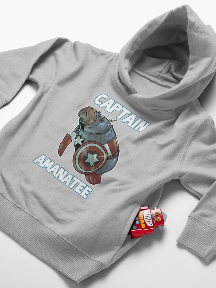 Alternate view of Captain Amanatee SALE! Toddler Pullover Hoodie
